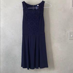 Blue Rain Navy pretty detailed dress
